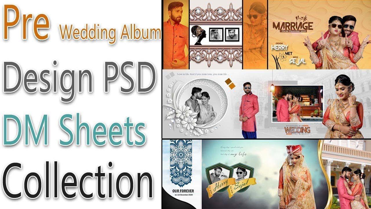 Pre Wedding Album Design 12x36 Psd Dm Sheets Collection Free Download Wedding Album Design Wedding Album Layout Album Design