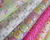 Palermo Fabrics by Erin McMorris for FreeSpirit Fabrics- Lime Fat Quarter Bundle- 6 total