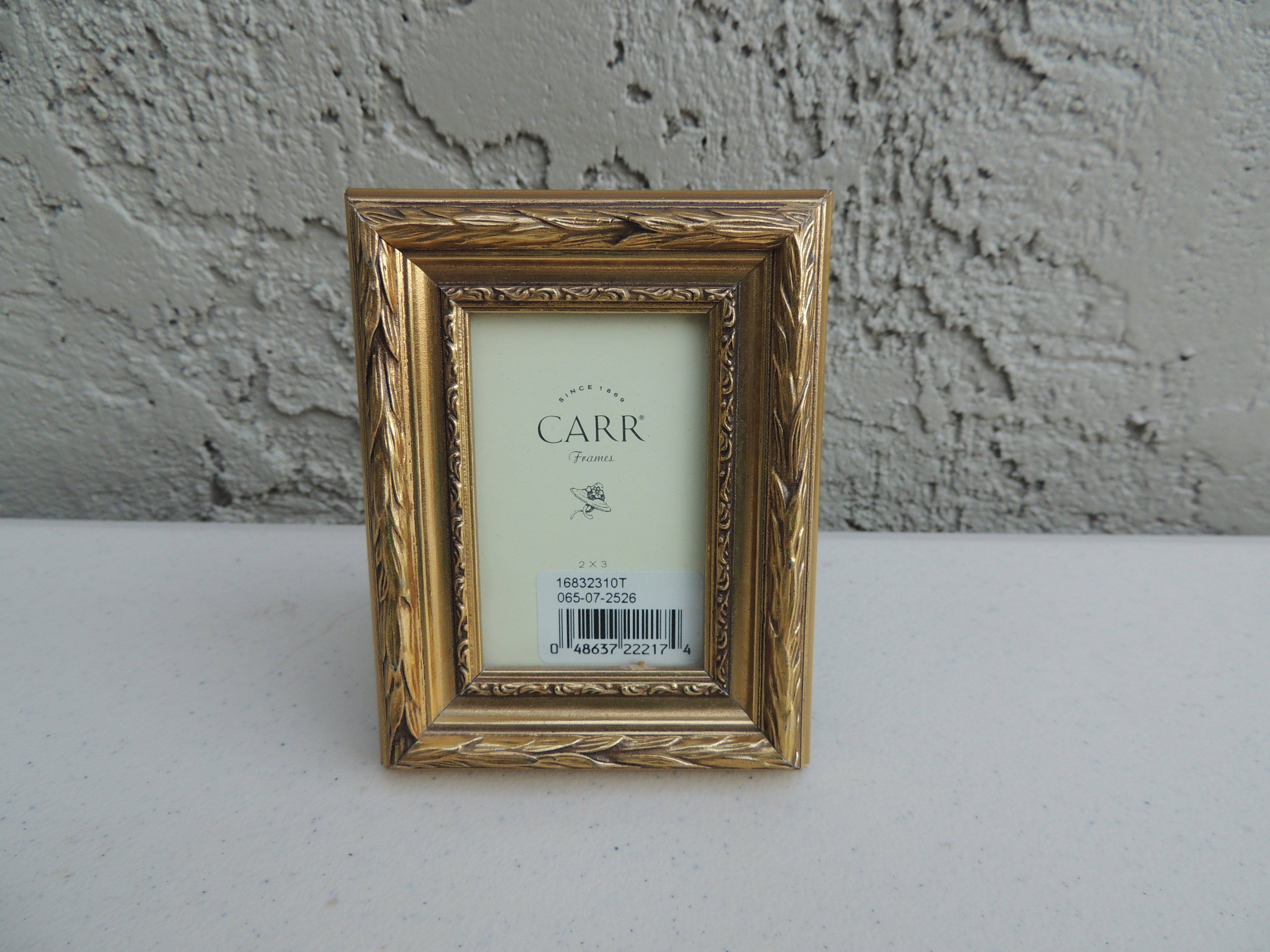 Vintage Carr 2x3 Picture Frame Decorative Gold Tone Picture Frames Frame Photo Picture Frames