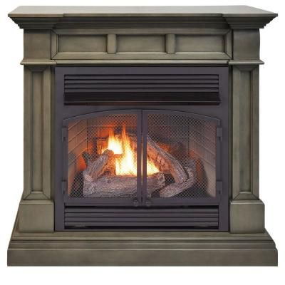 Duluth Forge 45 Inch Full Size Ventless Dual Fuel Fireplace In
