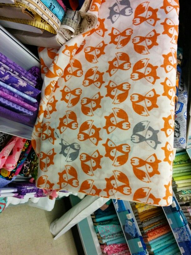 Fox fabric at Joann's | Fantastic Mr  Fox - Nursery Ideas | Fox