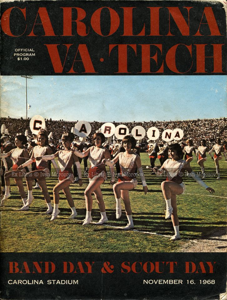 1968.11.16. Virginia Tech (Hokies) at University of South