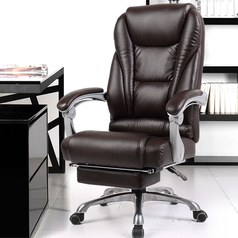 Luxurious And Comfortable Office Computer Armchair Ergonomic Lying Boss Chair Household Leather Sea Best Office Chair Boss Chair Luxury Office Chairs