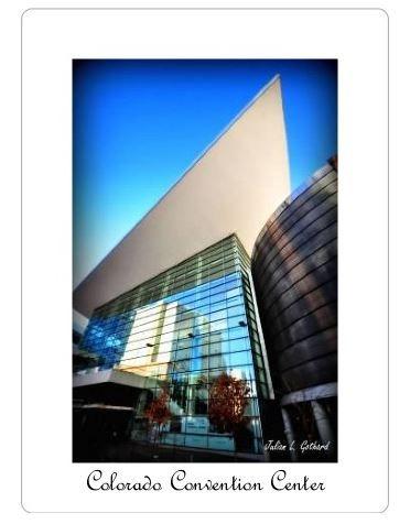 """The Colorado Convention Center, Denver, CO. 4"""" x 5.5"""" fridge magnet."""
