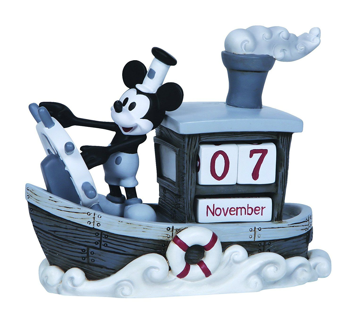 "Amazon.com: Precious Moments, Disney Showcase Collection, ""Mickey Mouse Perpetual Calendar"", Resin Figurine, #144707: Home & Kitchen"