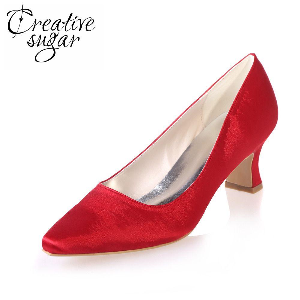Free shipping buy best creativesugar satin dress shoes hoof heel