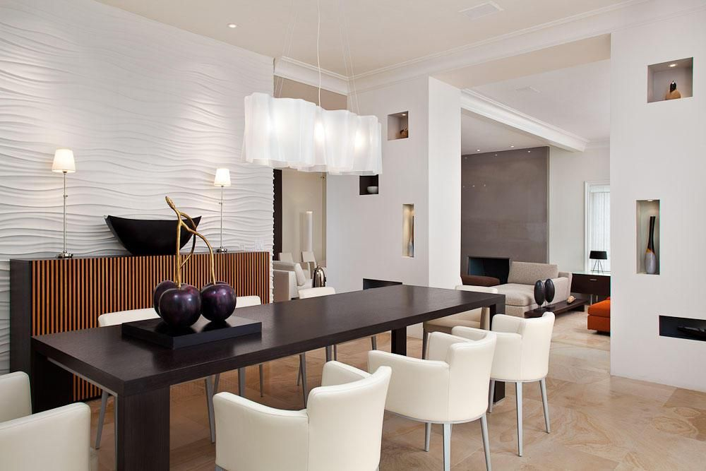 Lighting Ideas, Modern Dining Room Lighting Idea With Unique White Shade  Rectangle Chandelier Over Rectangular Black Dining Table And Modern White  Dining ...