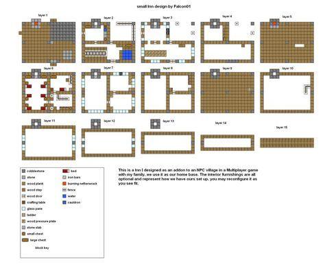Minecraft Floorplans Small Inn Design By Falcon01 Minecraft Houses Blueprints Easy Minecraft Houses Minecraft Modern
