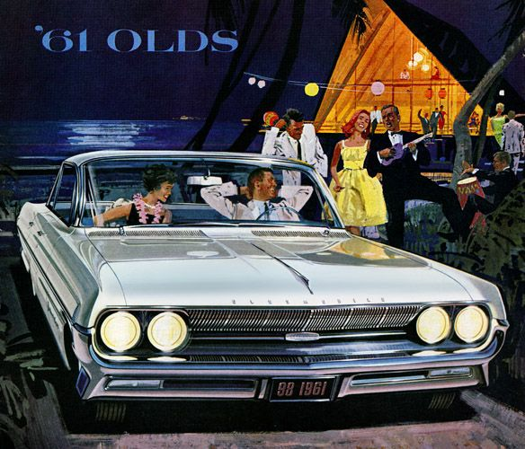 Plan59 :: Classic Car Art :: Vintage Ads :: 1961 Olds 98