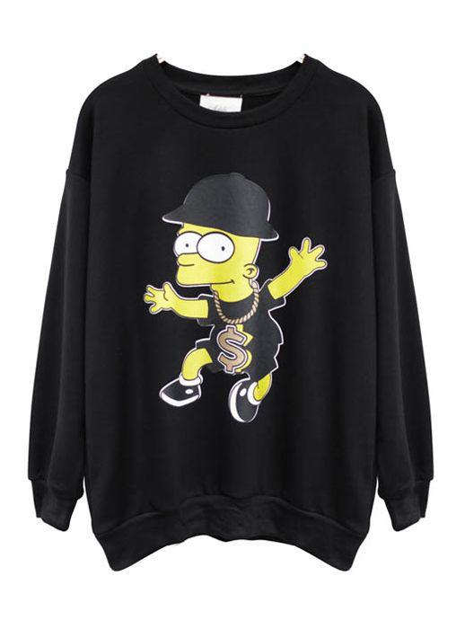 Cartoon pullover Sweatshirt