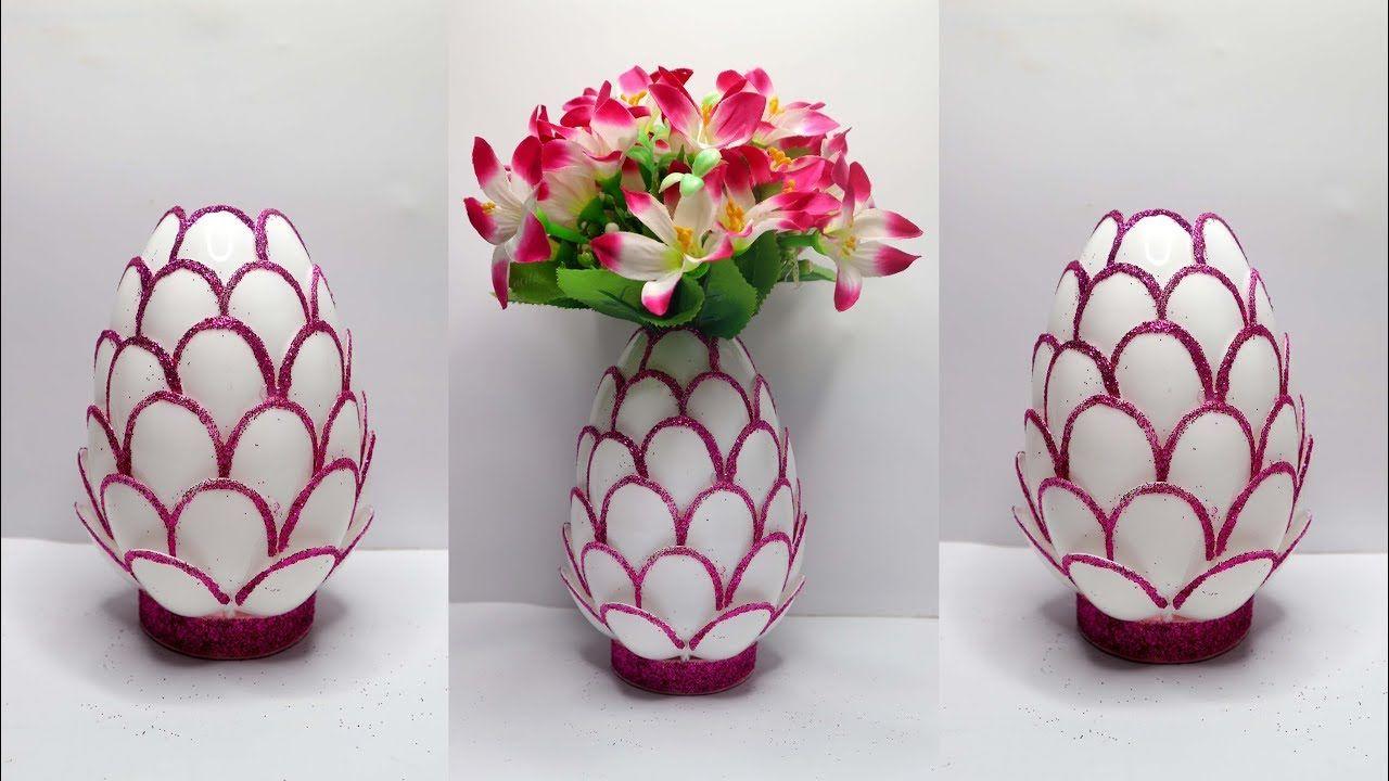 Ide Kreatif Vas Bunga Dari Sendok Plastik Plastic Spoon Craft