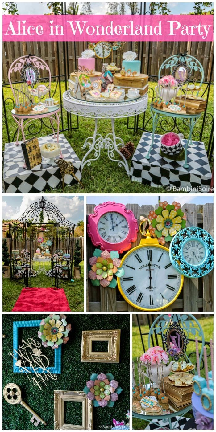 34 Creative Girl First Birthday Party Themes And Ideas Alice In Wonderland Tea Party Alice In Wonderland Birthday First Birthday Party Themes