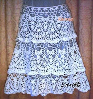 why oh why can I NOT learn to crochet???AG would love this...crochet skirt with pattern
