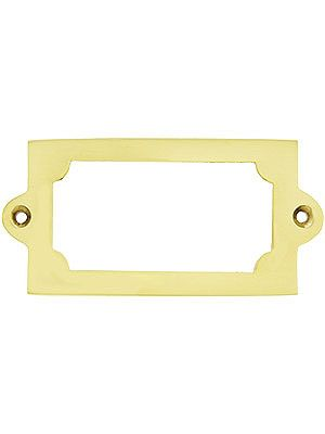 3 5 16 Brass Label Holder With Choice Of Finish Wooden File Cabinet Antique Hardware Brass