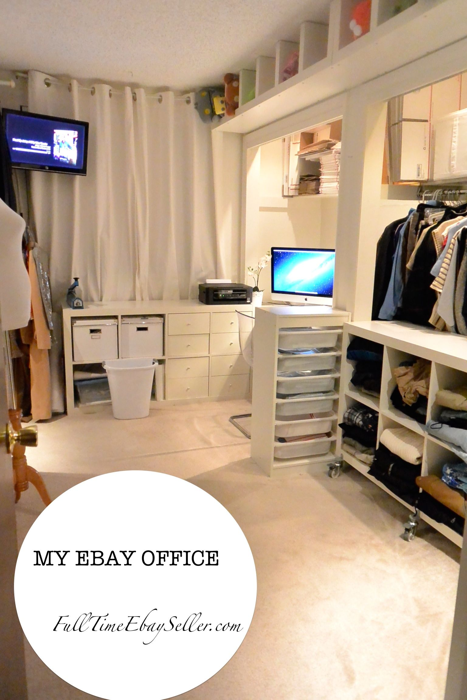 storage ideas for home office. Http://fulltimeebayseller.com/my-ebay-room/ My Ebay Home Office Room. Storage Ideas. Blog About Selling On Ebay. She Posts Her Numbers And What Sells! Ideas For