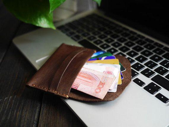 Delgado moneda de la carpeta de cuero / carpeta de la moneda / monedero del cambio por CityOfGod