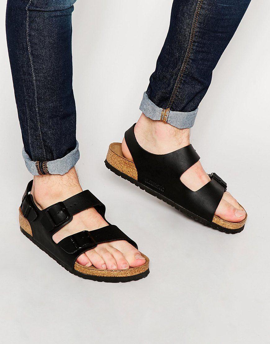 Amazing Cheap Birkenstock Pisa Women39s Fashion Leather Sandals Black On Sale