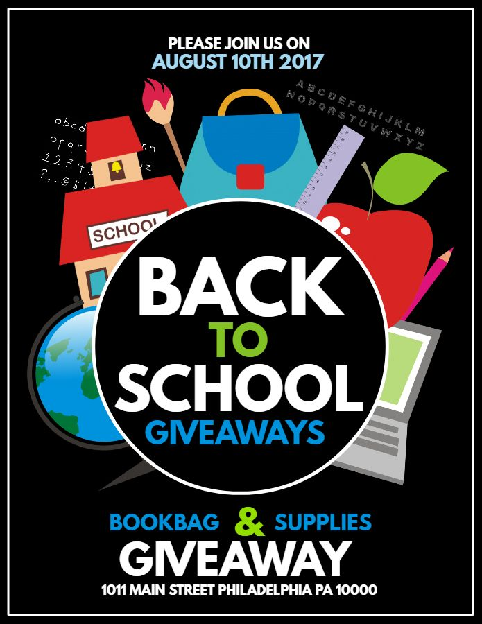 Back To School Retail Poster Flyer Social Media Graphic Design Template