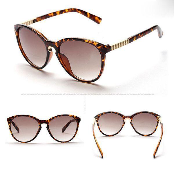 9a748018b6b New Fashion Womens Vintage Oversized Cat Eye Round Sunglasses Eyewear Metal  Frame Sun Glasses UV400