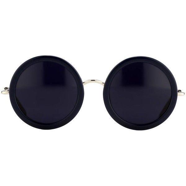 THE ROW 8 Luxury Round Acetate Stainless Steel Sunglasses found on Polyvore e9b5a032bc8d7