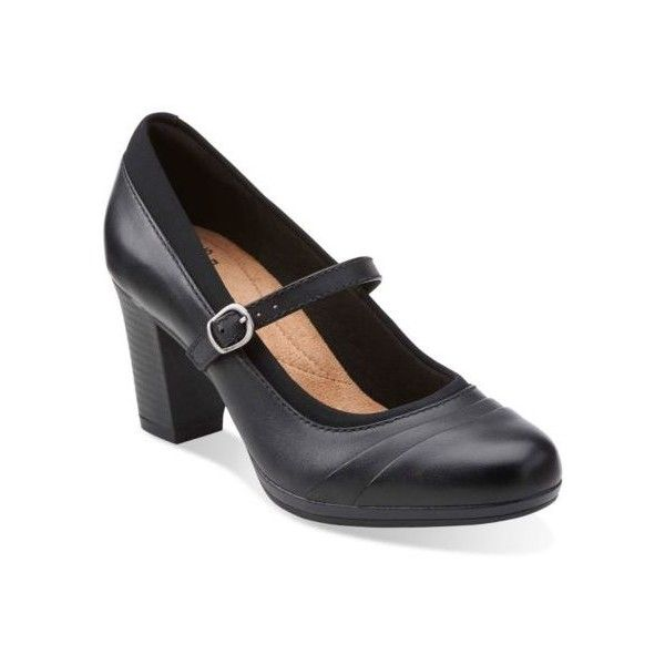 Womens Clarks Suede Leather Black Mary Janes Brynn Ivy And