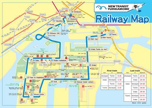 Yurikamome map tokyo odaiba Pinterest Odaiba and Tokyo