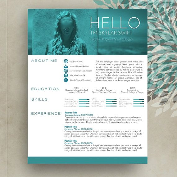 creative resume cv template cover letter ms word for mac