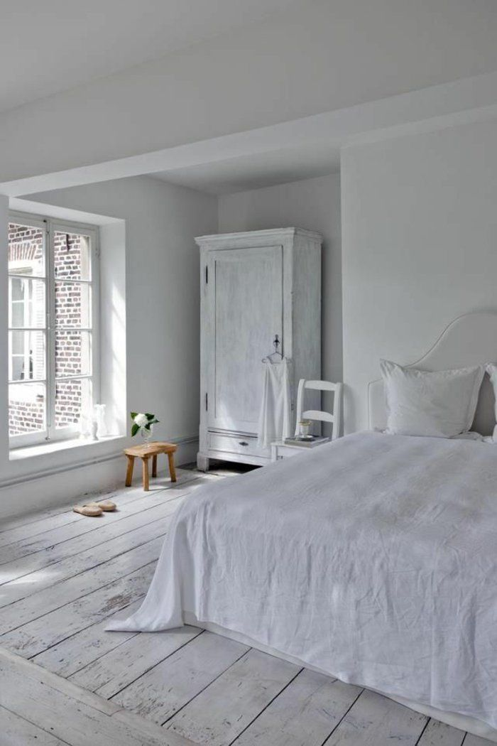 chambre parquet blanc