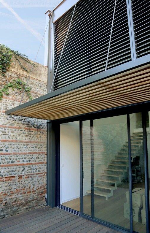 brise soleil m tal et bois architecture pinterest architectuur en tuin. Black Bedroom Furniture Sets. Home Design Ideas