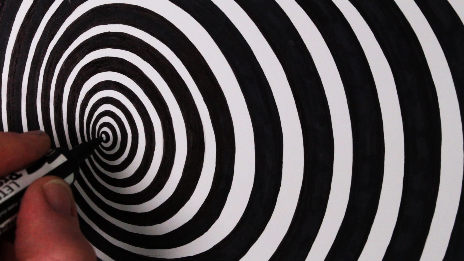 Op Art Tunnel Or Cone See How To Draw This Simple Optical