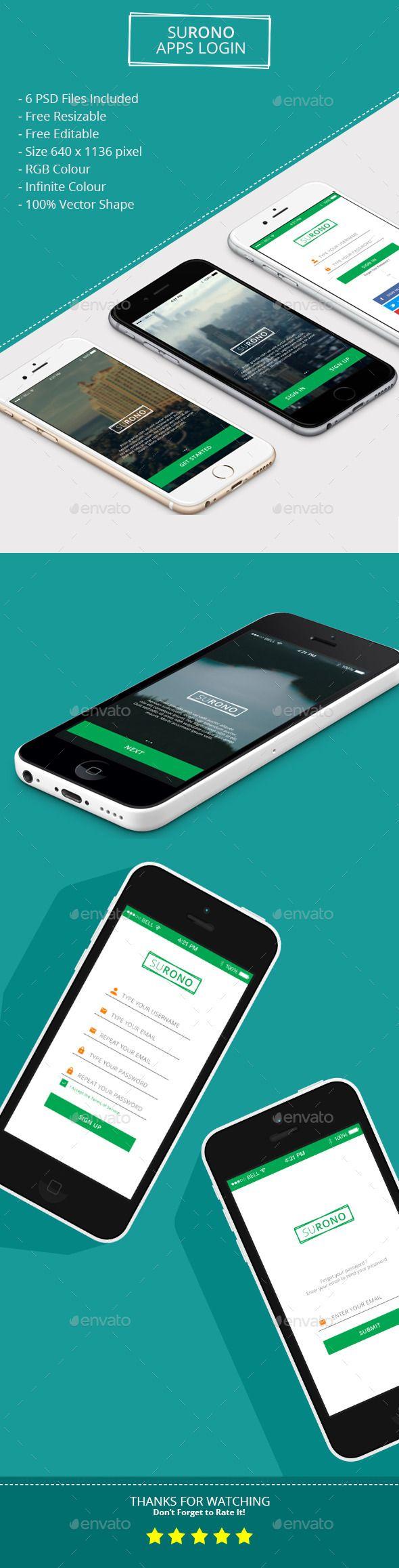 Surono Apps Login User Interfaces Web Elements Design