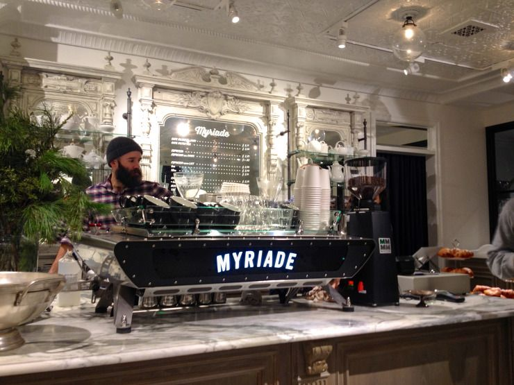 Montreal Cafe Myriade Collabs With Club Monaco Coffee Shop Design Cafe Montreal