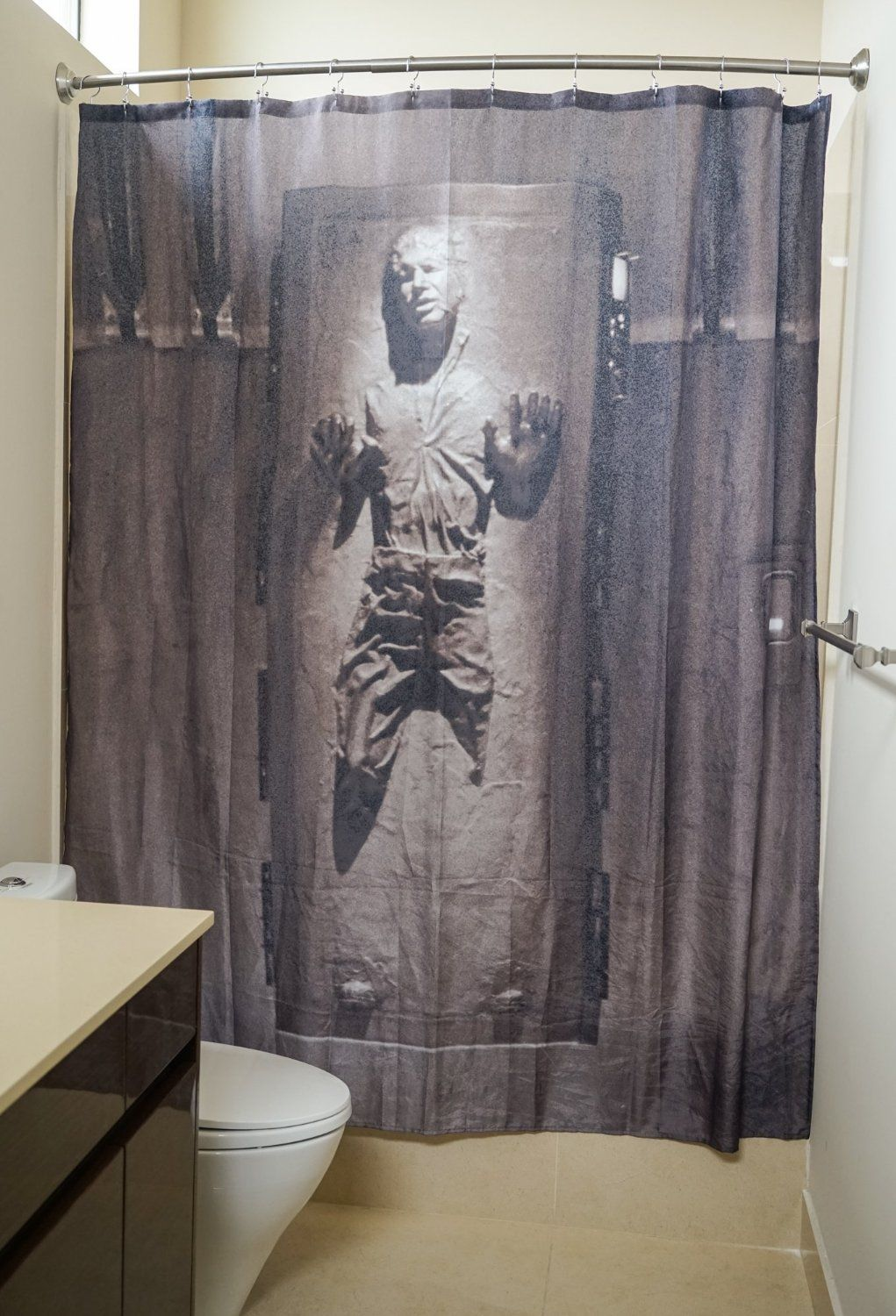 Star Wars Han Solo In Carbonite Shower Curtain Star Wars