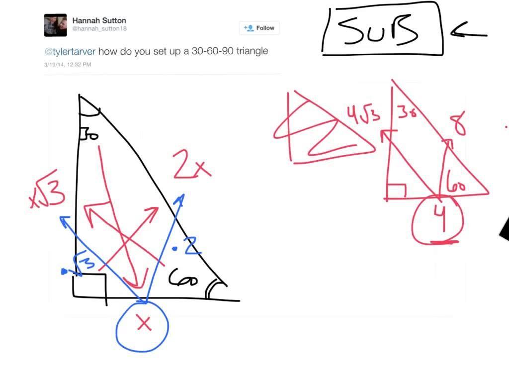 30 60 90 Triangles Cheat Code Shortcut