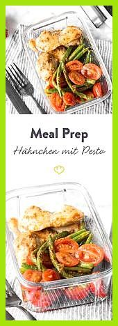Hähnchen mit grünen Bohnen, Kirschtomaten und rotem Pesto #Bohnen #Fitness food lunch #Fitness food...