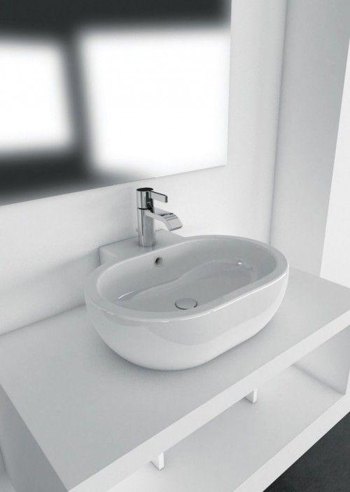SALLY LAVABO DA APPOGGIO O SOSPESO 60X51 #arredamento #bagno ...