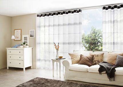 Gardinen für große Fenster Wohnzimmer Pinterest - gardinen f r wohnzimmer