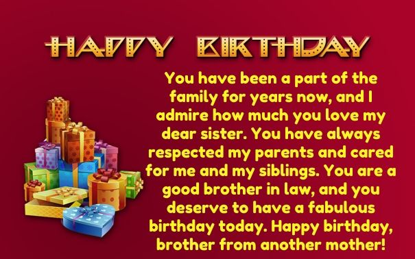 Birthday Quotes To A Brother From Another Mother 94 Quotes