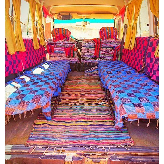 The interior of the #LandRover vehicule that transported us to the colored canyon. #sinai