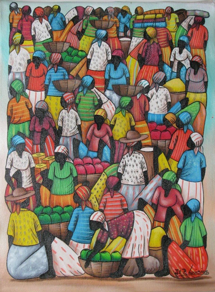 Pin Kim Williams Folk Art Haitian Caribbean