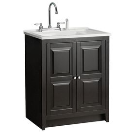 Utility Sink With Cabinet Budget Option   Foremost Casual Acrylic Utility  Tub In 30 1