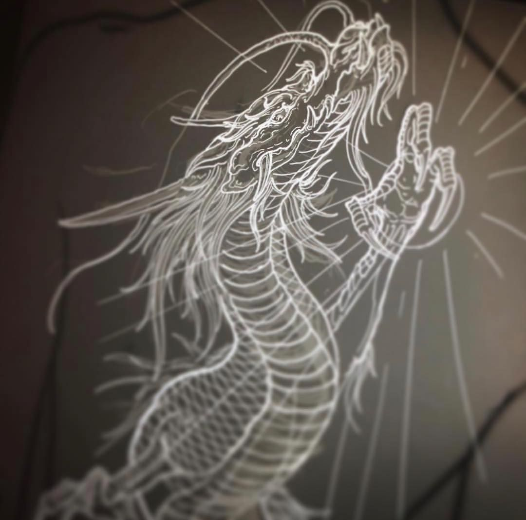 Chronic Ink Tattoo Kitsilano Vancouver Dragon Sketch By Truong87 Vancouver Tattoo Artists Dragon Sketch Dragon Tattoo