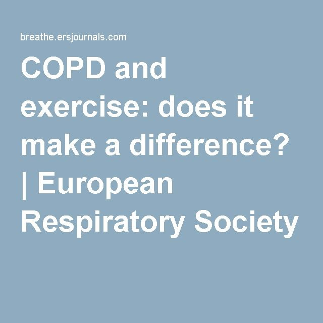 COPD and exercise: does it make a difference? | European