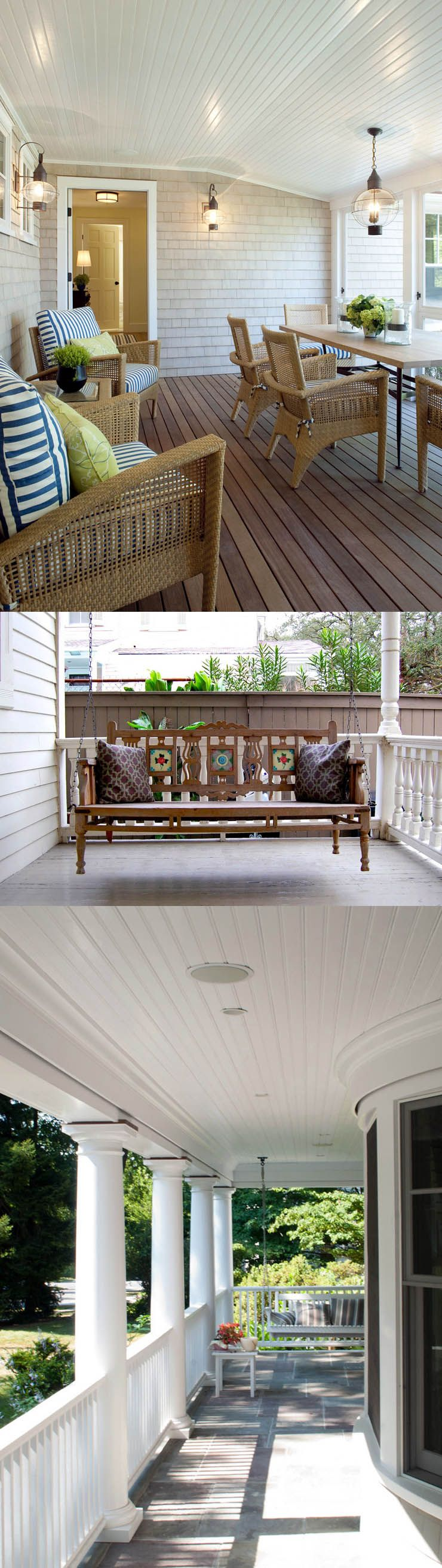 5 Back Porch Ideas & Designs For Small Homes | Porch ideas ... on Back Deck Ideas For Ranch Style Homes id=17073