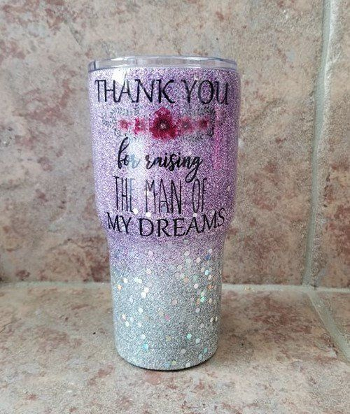 Custom Glitter Tumbler, Tumbler for Mother In Law, Glitter Cups, Ombre Tumbler, Mom of the Groom Gift, Custom Glitter Cups, Custom Mugs #custommugs
