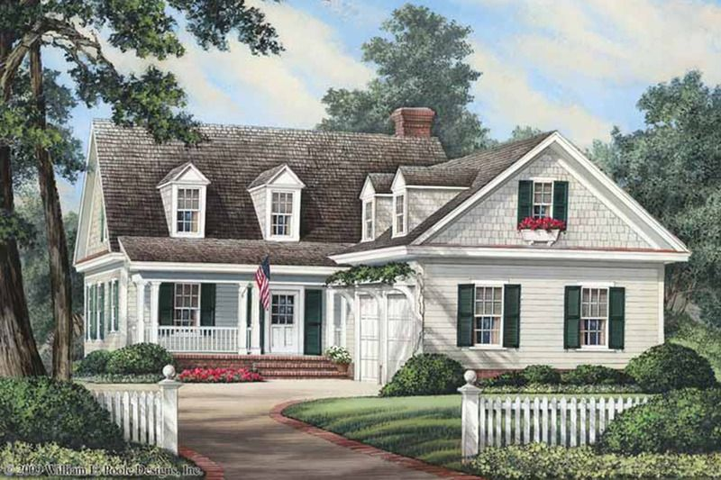 Traditional Exterior - Front Elevation Plan #137-263 Cutest