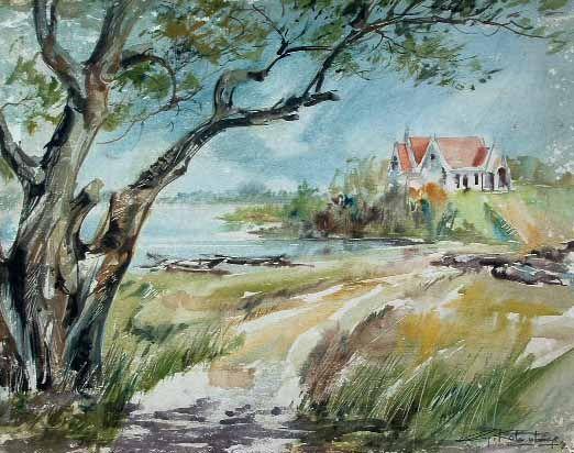 Gunasri Kolambage Negombo Sri Lanka Watercolour On Paper With