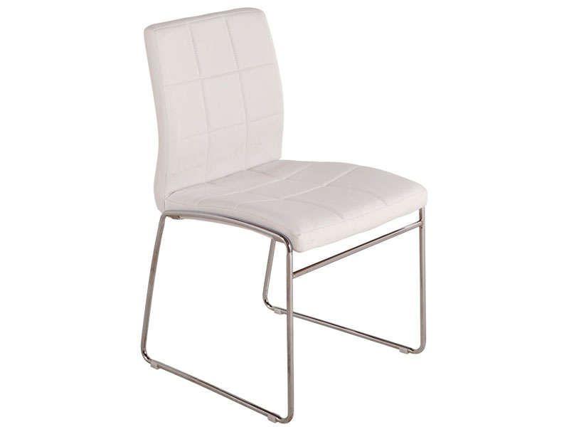 Chaise Cube Coloris Blanc Vente De Chaise De Cuisine Conforama