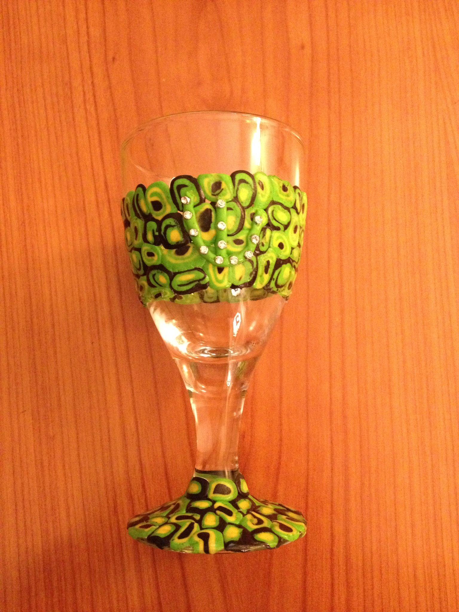Chiddush bicchiere | Bicchiere, Fimo
