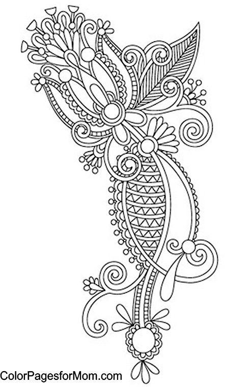 Paisley Coloring Page 36   Diseños Étnicos   Pinterest   Mandalas ...